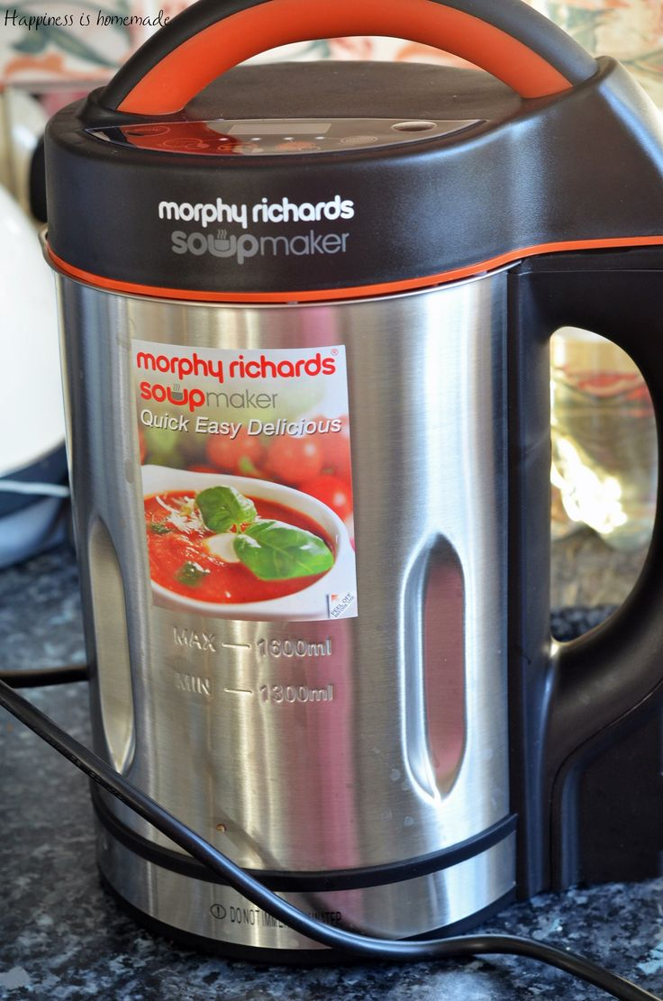 UPDATE: Here are other soups I've made so far using Morphy Richards Soup Maker: Roasted Carrot & Coriander Soup Roasted carrot & sweet potato soup with harissa and crispy chickpeas Smoky red lentil soup Broccoli & Gorgonzola soup Roasted tomato...