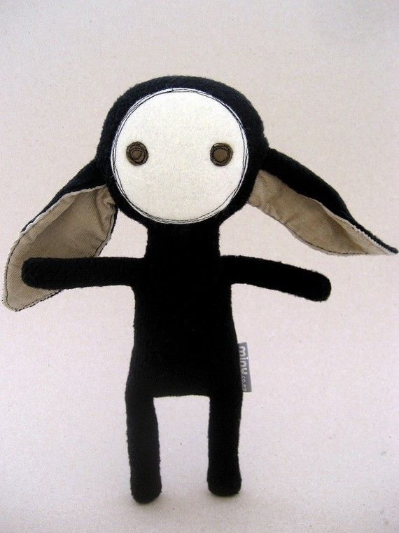 BOUS in Black by Minu on Etsy. That really simple plushy (straight atms, hello?) wins because of those elaborate ears. Sweet.