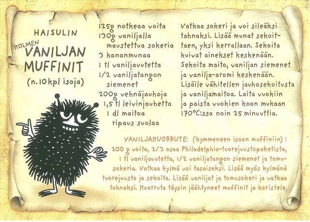 Stinky's vanilla muffin recipe