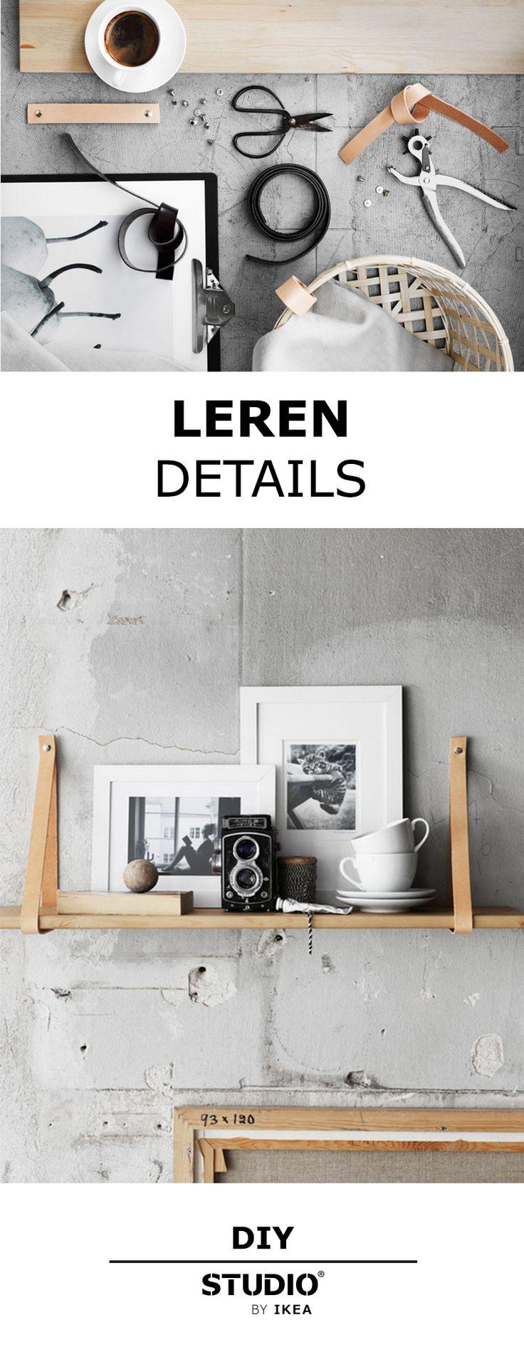 STUDIO by IKEA - Een DIY met stoeren leren details. | #STUDIObyIKEA #IKEA…