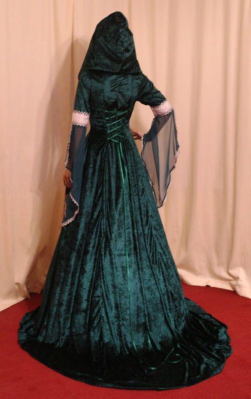 mariage médiéval renaissance robe celtique fait par camelotcostumes