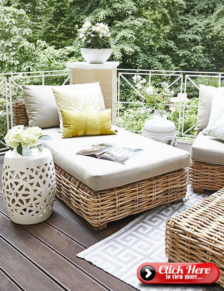 Summer Vibes On This Beautiful Terrace You Can Only Feel Good Outdoor Wicker Patio Furniture Wicker Patio Furniture Best Outdoor Furniture