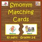Use these Synonym Matching Cards to keep your students engaged in a fun activity that encourages reading and matching. This game is ideal for re-te...