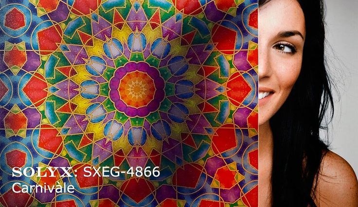 "Decorative Films | Window Film | Stained Glass | Privacy | Treatment - SOLYX: SXEG-4866 Carnivale. 48"" Wide"