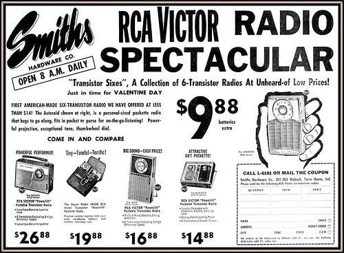 Radios portátiles RCA VICTOR, década del 60.