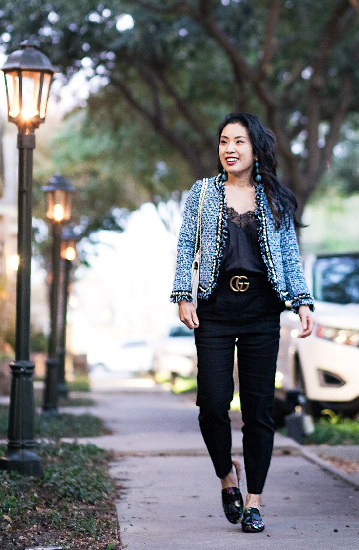 Looking for a chic Tweed Blazer for the office? Popular Dallas petite fashion blogger cute & little features the perfect one from SheIn. See it styled here!    #cuteandlittle #petitefashion #tweedblazer #winterfashion #winterstyle #winteroutfit