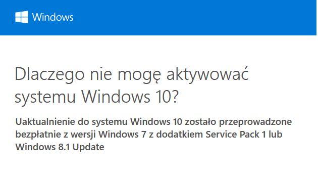 Windows 10 problem z aktywacją - kod błędu: 0xC004F034