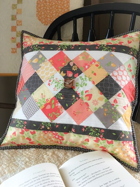 Carried Away Quilting: On Point Pillow: a mini charm project featuring Sundrops