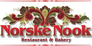 Norske Nook Restaurant in Wisconsin.  Love the name, and the food's good, too!
