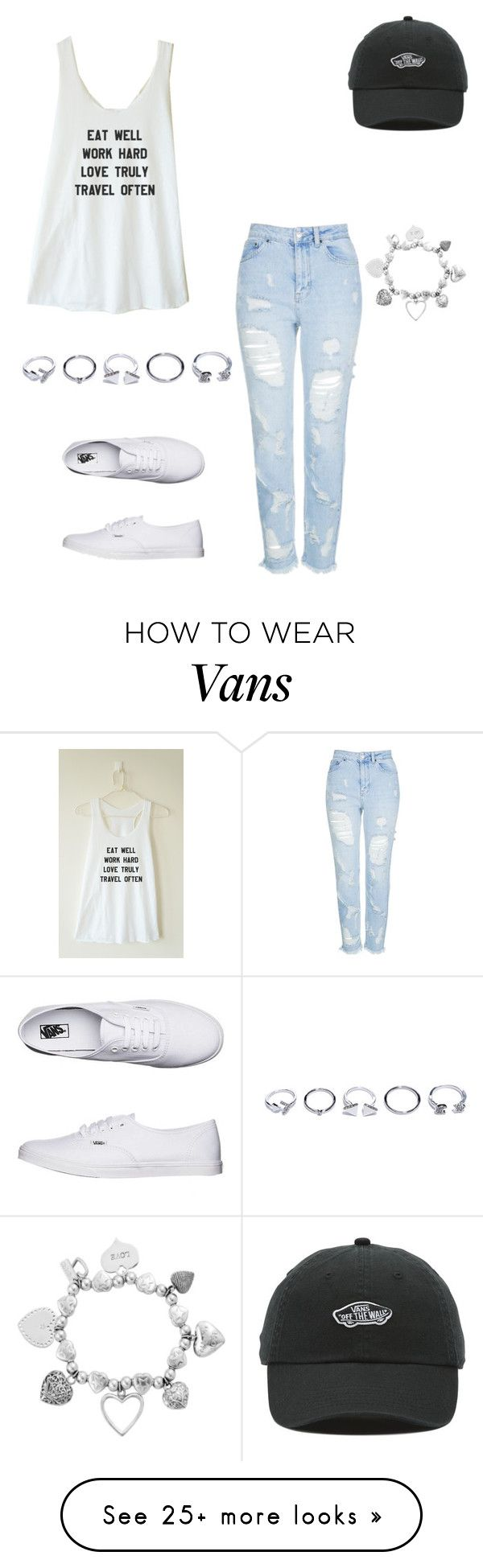 """Untitled #1939"" by anitababe46 on Polyvore featuring Topshop, Vans, ChloBo and GUESS"