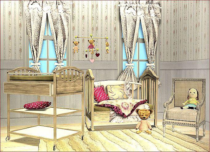 Sims in paris nursery set ts2 baby children pinterest paris nursery and sims - Sims 3 babyzimmer ...
