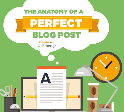 iSpionage created this infographic to share the principles they believe are important for the anatomy of a perfect blog post, that stand out and get shared!