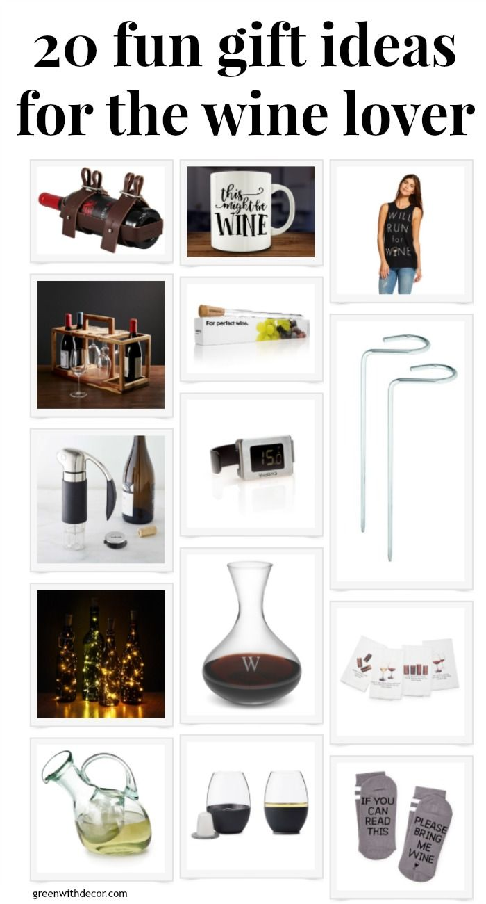 20 fun gift ideas for the wine lover | Mother's Day gift ideas | what to get someone who loves wine | Christmas presents for wine lovers | birthday idea for people who live wine | keep wine cold | wine rack for bikes | wine all art | wine towels | wine socks