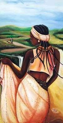 African Woman in a Field