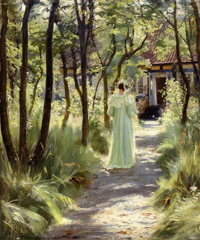 Marie in the Garden - Peder Severin Kroyer