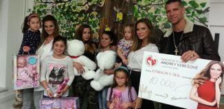 Andrea Verešová a její přátelé navštívili Dětský domov Domino