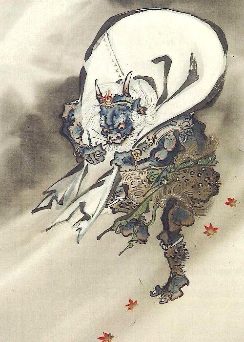 Tattoo Ideas & Inspiration - Japanese Art | Kawanabe Kyosai - Fujin, God of the Wind