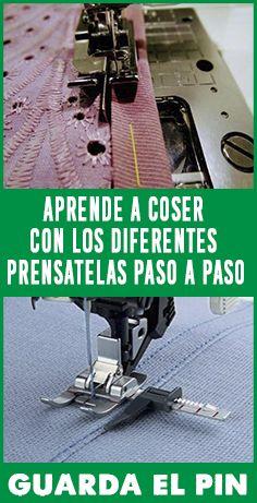 APRENDE A COSER CON LOS DIFERENTES PRENSATELAS PASO A PASO