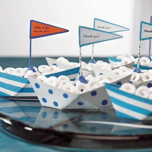 boat loads of food for a nautical boys party