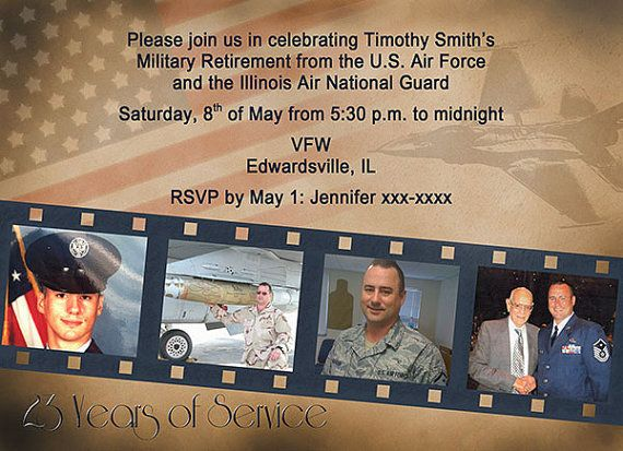 Vintage Military Retirement Party Invitation by AnnouncedCreations, $12.00