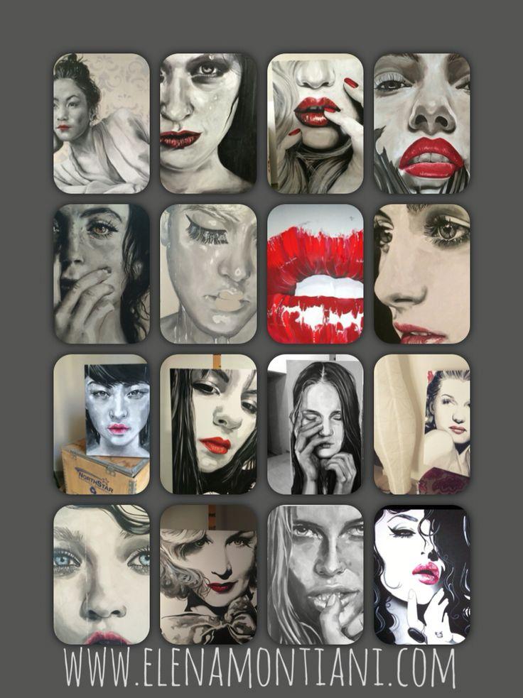 Alcuni lavori del 2015- olio su tela  www.elenamontiani.com