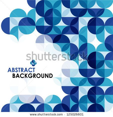 Blue modern geometrical abstract background by antishock, via Shutterstock