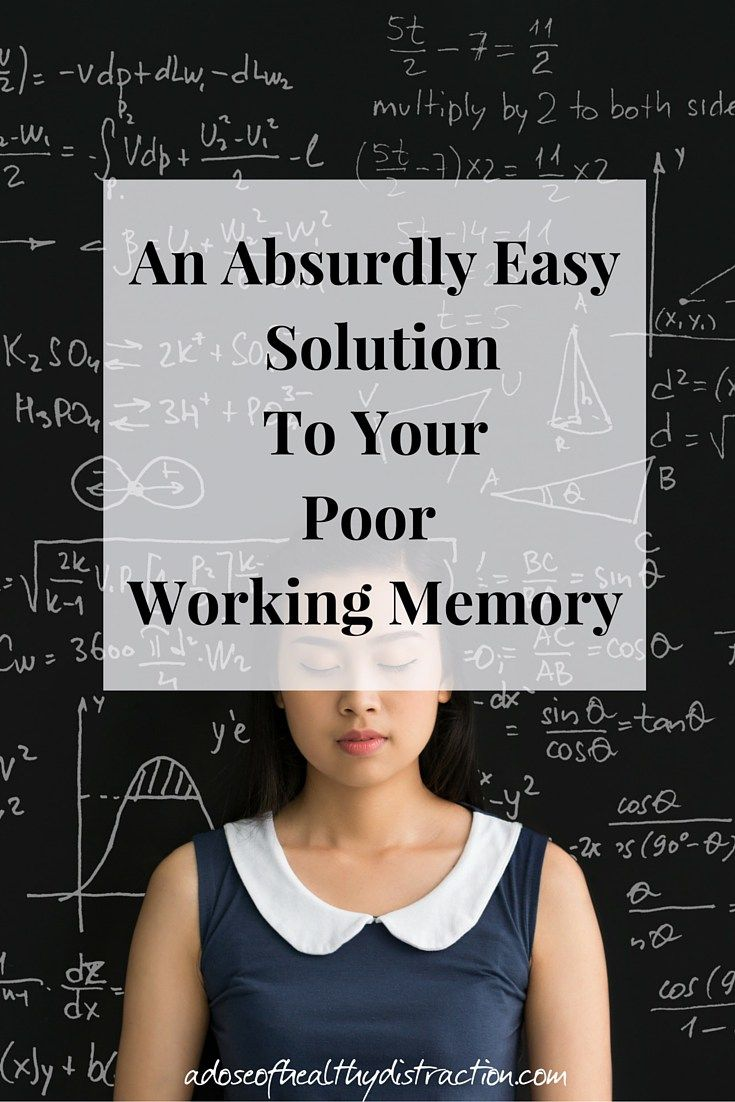Living with ADHD often includes dealing with a poor working memory.  Learn my easy peasy solution to make life easier + improve your working memory.