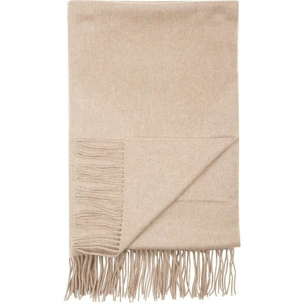 Sofia Cashmere Fringe Throw ($349) ❤ liked on Polyvore featuring home, bed & bath, bedding, blankets, nude, cashmere throw, taupe throw blanket, taupe bedding, cashmere throw blanket and cashmere blanket