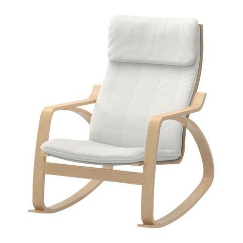 IKEA - POÄNG, Fauteuil à bascule, blanc, plaqué bouleau, , Structure en multiplis de bouleau, un matériau très solide et résistant à l'usure.La housse est facile à entretenir car elle est amovible et lavable en machine.Il existe un choix de coussins pour vous permettre de renouveler facilement l'aspect de votre canapé et celui de toute la pièce.Dossier haut vous offrant un bon soutien de la nuque.Garantie 10 ans. Détails des conditions dans le livret Garantie. 229 €