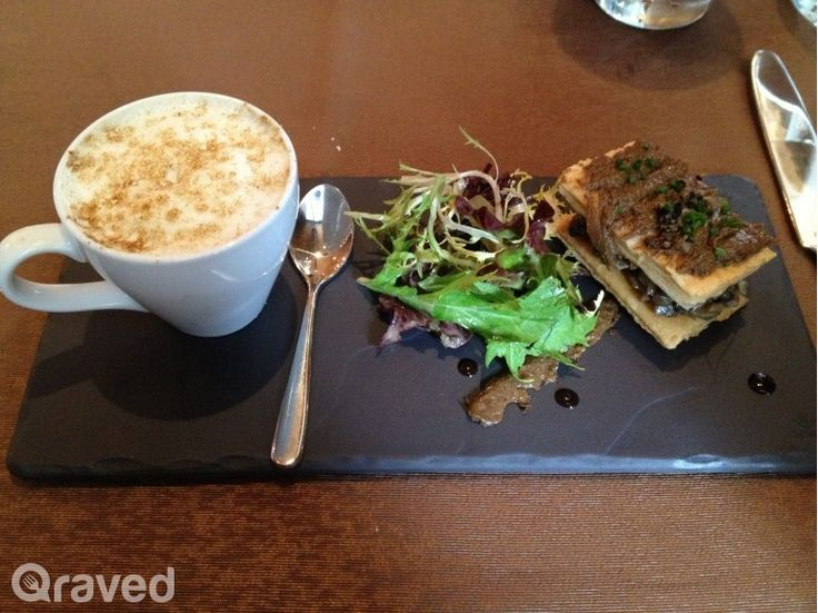 Light Cappucinno of Parisian Mushroom Flambeed with XO at Cassis Restaurant