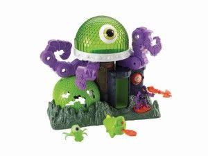 Ion Alien Headquarters Great for imaginative play.Two tentacles move side to side while one goes up and down.Not as big as some of the Imaginext sets, much smaller than bat cave and castle. http://bit.ly/1s8J3oc Fisher Price Toys, Ion alien headquarters