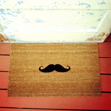 The Fredrick Moustache Doormat by Petite Ambre - eclectic - doormats - - by Etsy