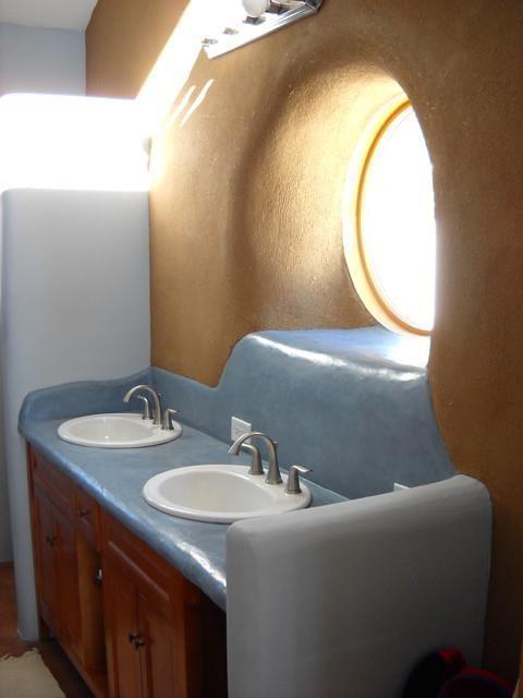 37 best fairytale strawbale house images on pinterest for Tadelakt bathroom ideas