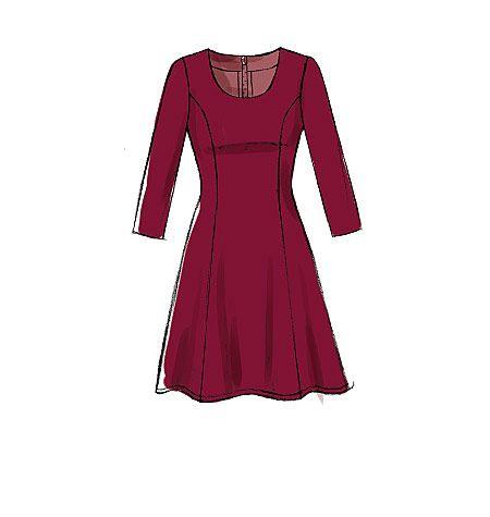 M7189, Misses'/Miss Petite Dresses