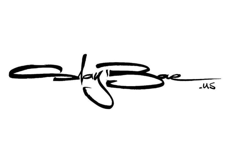Handwritten logo for 'SlayBae.US' [07-2017]