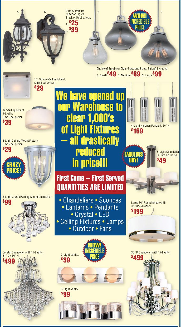 We've opened our warehouse and lowered our prices A LOT! Come and check out our warehouse sale!