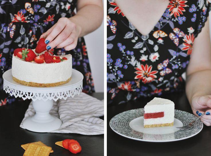Cheesecake insert à la fraise (sans cuisson)