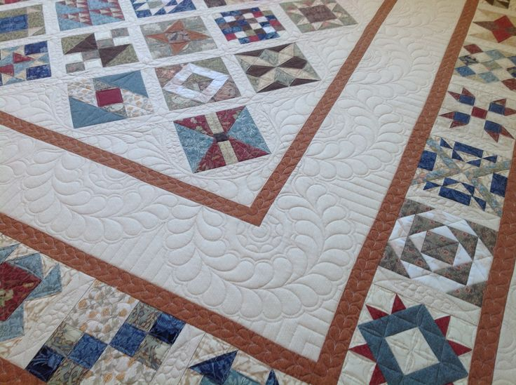 Quilted borders on The Farmers Wife Quilt