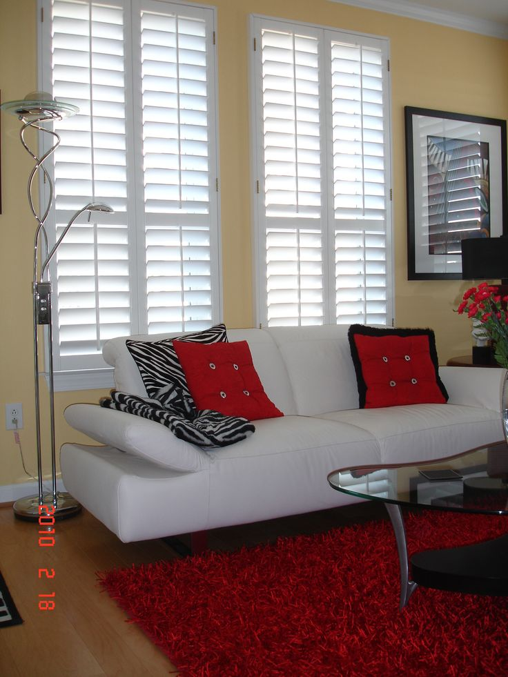 10 Best Living Rooms With Plantation Shutters Images On