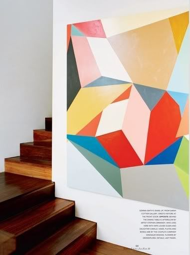 large scale art: Geometric Art, Design Manifest, Design Interiors, Murals Ideas, Bedrooms Interiors, Geometric Paintings, Vogue Living, Gemma Smith, Design Offices