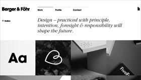 Minimalistisches Webdesign