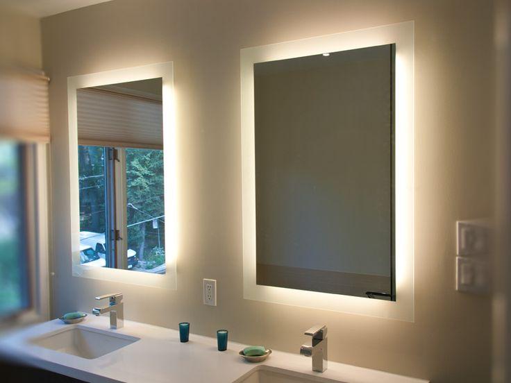 Bathroom Mirrors Ideas Back Lighted Design