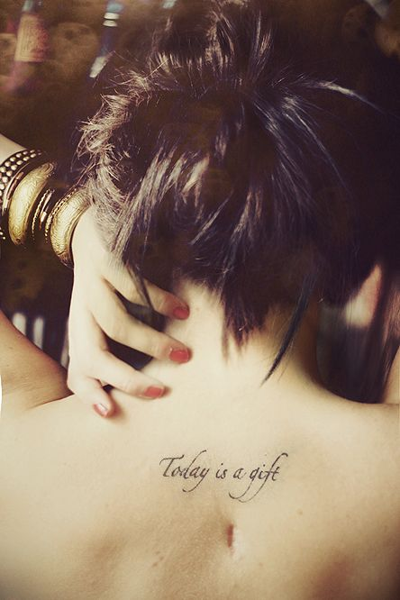Today is a gift. I would like to get this by my seatbelt burn scar on my neck.