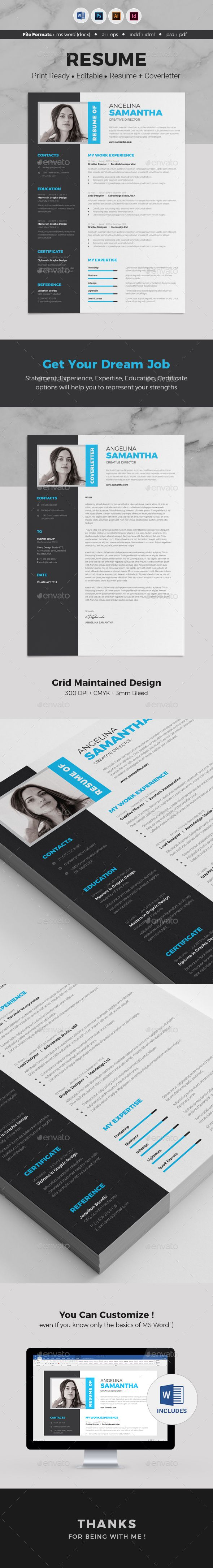 Resume Resumes Stationery Modern Clean and