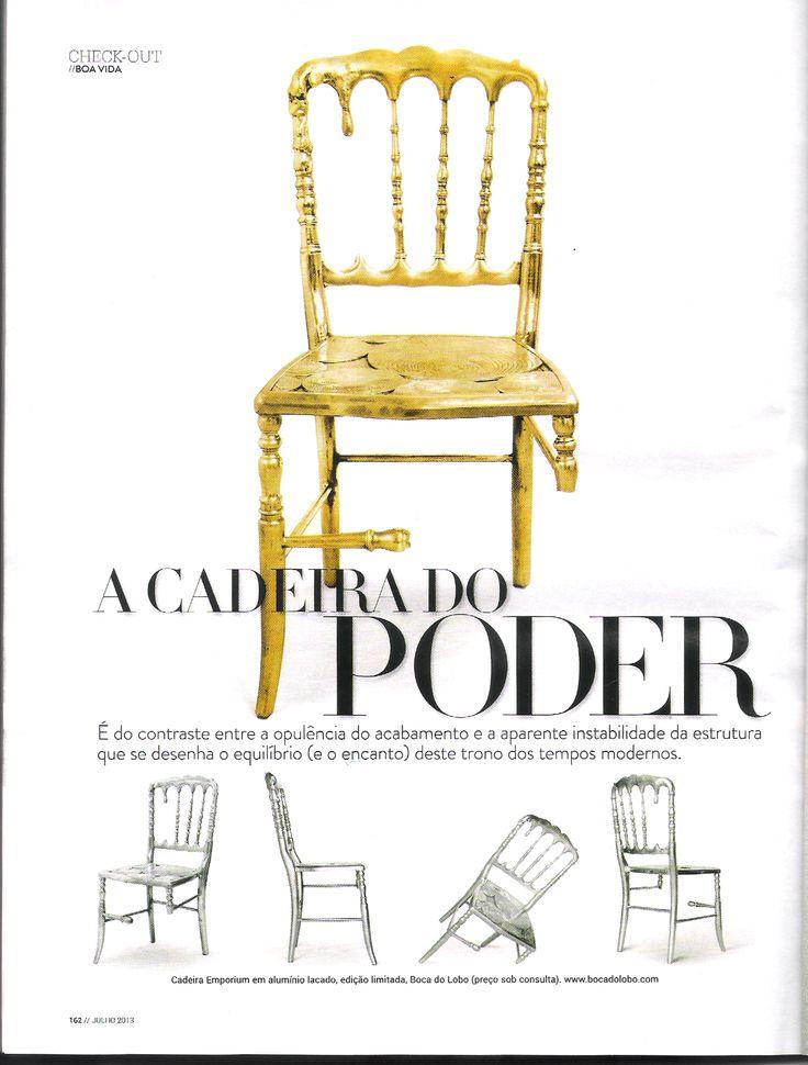 Emporium chair by Boca do Lobo at Maxima magazine Julho 2013 www.bocadolobo.com