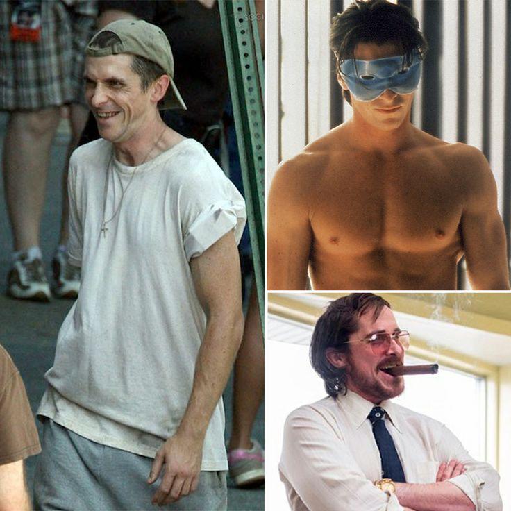 """Top 5 de transformaciones más drásticas de estrellas de cine. Christian Bale, por sus innolvidables interpretaciones en """"The Machinist"""", """"The Fighter"""" y """"American Hustle"""". #digoCine #ChristianBale"""