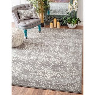 Shop for nuLOOM Vintage Floral Ornament Silver Rug (9' x 12'). Get free shipping at Overstock.com - Your Online Home Decor Outlet Store! Get 5% in rewards with Club O!