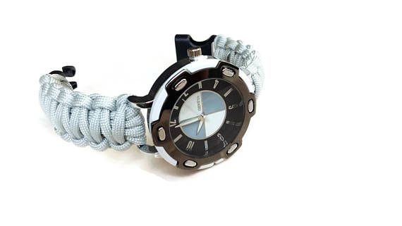 Mens watch  Paracord Watch Survival watch Boyfriend watch