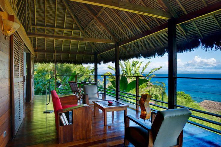Tsara Komba Lodge - Terrasse avec vue