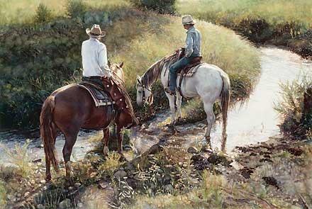 Where the Grass is Greener - Steve Hanks - World-Wide-Art.com - $165.00